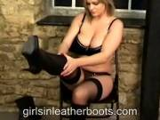 Charley Puts On Her Boots Slowly